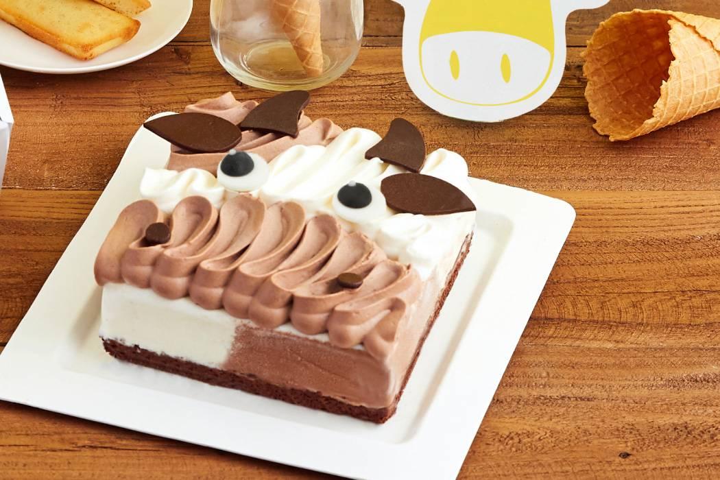 萌小牛蛋糕冰淇淋