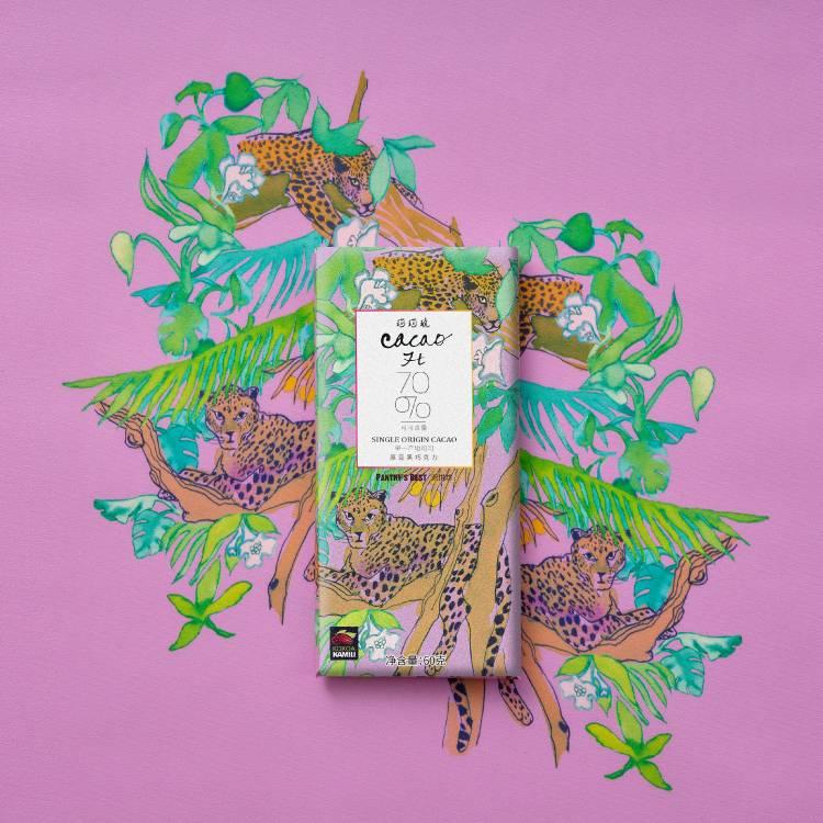 CACAOH原豆黑巧克力70%排块原味