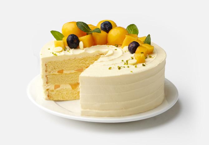 芒果空气感蛋糕