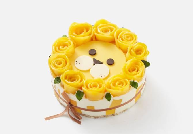 """狮子座 """"爱的光芒""""芒果椰子慕斯蛋糕"""