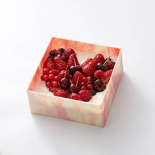 """情投意""""盒""""椰风草莓蛋糕"""
