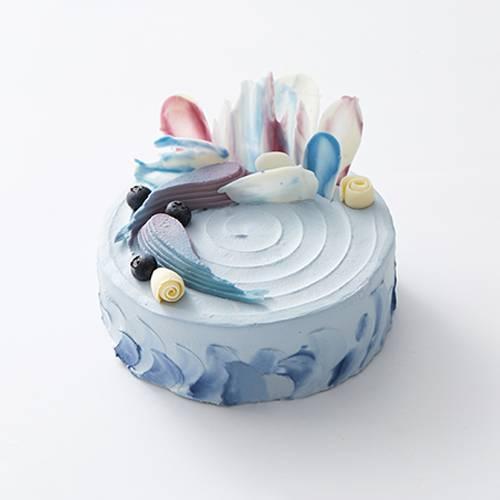 """""""蓝海幻境""""蓝莓酸奶乳酪蛋糕"""