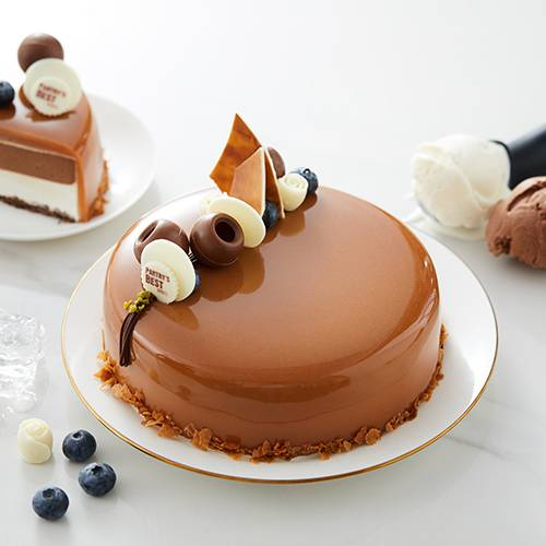 Chocolate Caramel Ice Cream Cake