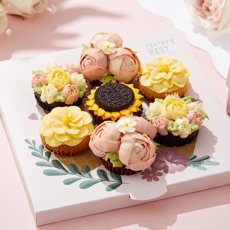"""""""倾慕·挚爱""""花束纸杯蛋糕礼盒"""