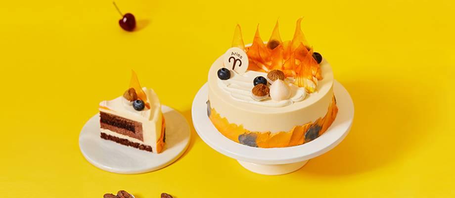 """白羊座""""热情火山""""双重巧克力蛋糕"""