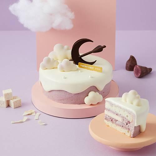 Purple Yam and Coconut Angel Cake