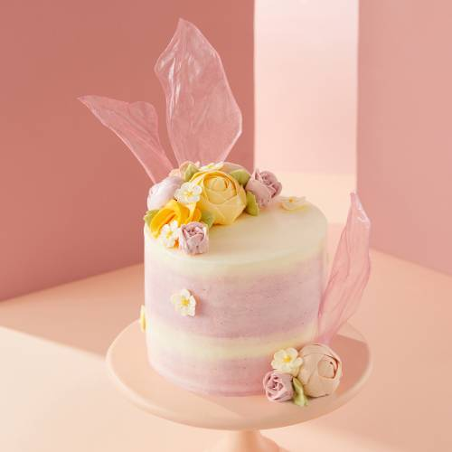 Breath of Spring Floral Chiffon Cake