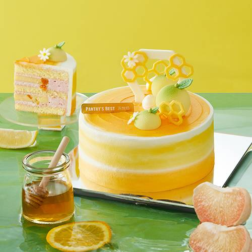 Pomelo & Raspberry Chiffon Cake
